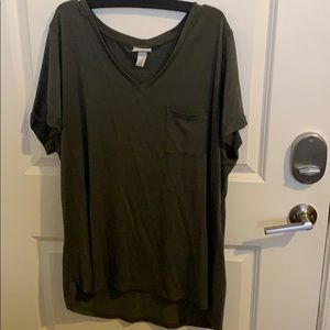 Green Relaxed fit Top